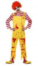 deguisement clown tueur jaune et rouge