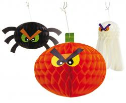 Assortiment de 3 décorations halloween pas cher