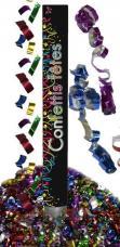 canon confettis et serpentins multicolors