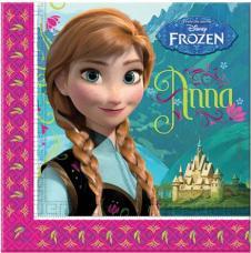 serviettes anniversaire la reine des neiges