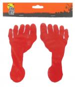 Déguisements Set de deux traces de pied sanglants en sticker