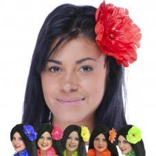 barette fleur fluo grand modèle