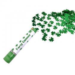 Canon à confettis trèfles vert pas cher