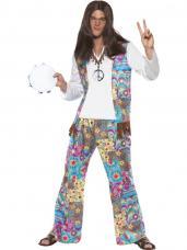 deguisement hippie motifs colores homme