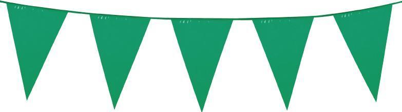 Guirlande fanions vert géant