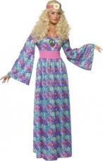 deguisement hippie femme robe longue flower