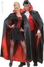 Déguisements Cape Halloween Satin Noir/Rouge