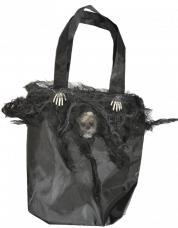 Sac Halloween décoré squelette
