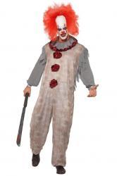 Déguisement Clown Gris et Rouge pas cher