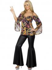 costume hippie femme noir
