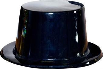 chapeau haut de forme plastique noir
