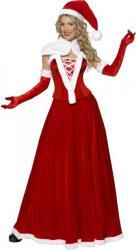 Costume Mère Noël Robe Longue pas cher