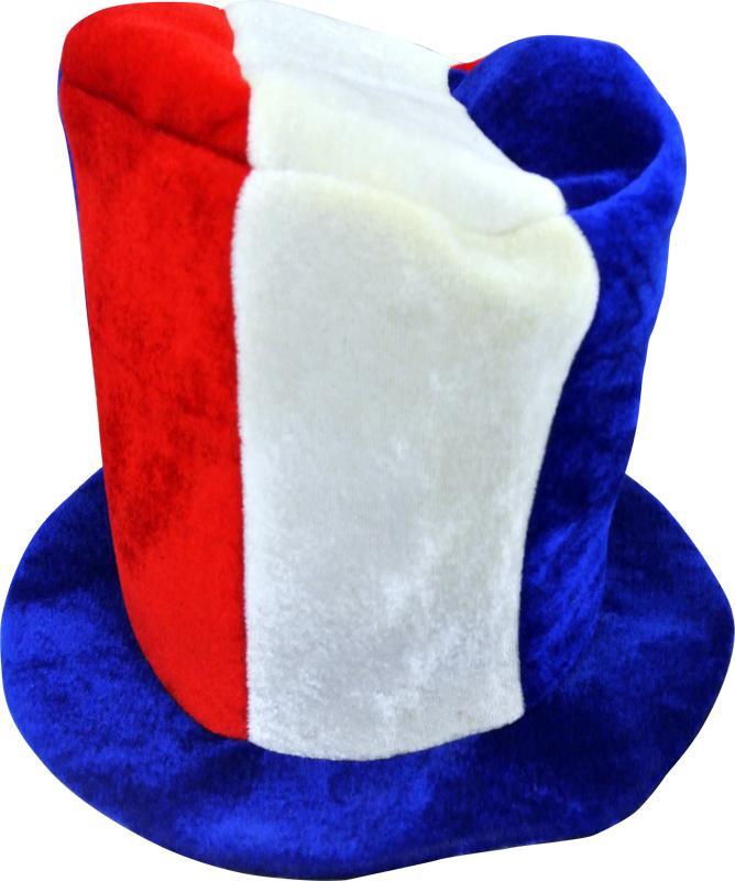chapeau haut de forme tricolore pas cher. Black Bedroom Furniture Sets. Home Design Ideas