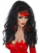 perruque rouge et noire