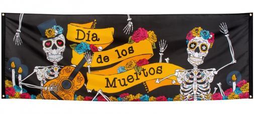 bannière polyester dia de los muertos