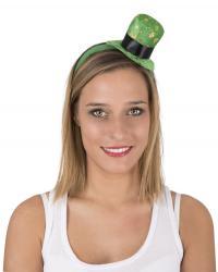 Serre tête mini haut de forme Saint Patrick pas cher