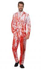 deguisement homme motifs eclaboussures de sang