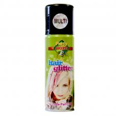 spray paillettes multicolores cheveux