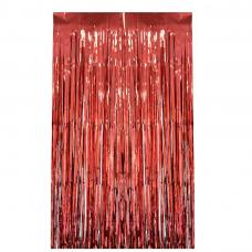 rideau a lamelle rouge