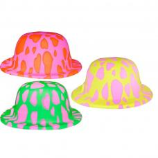 chapeau melon fluo clown
