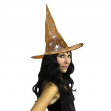 chapeau sorcière orange