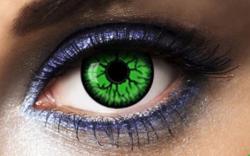 Lentilles Fantaisie vertes et noires adulte