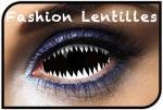 Lentilles Dents de requin Noir/Blanc