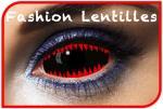 Lentilles Dents de requin Rouge/Noir
