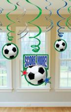 decorations serpentins football
