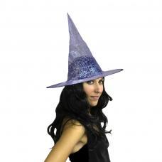 chapeau sorcière violet