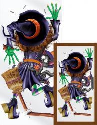 Halloween : décor de porte sorcière