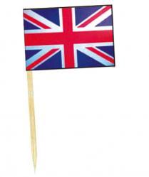 Mini drapeaux Royaume Uni avec pic en bois pas cher