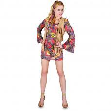 costume hippie marron femme