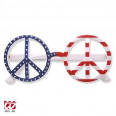 lunettes peace and love drapeau usa