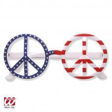 lunettes peace and love drapeau usa