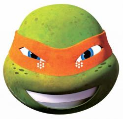 Masque Michelangelo des Tortues Ninjas pas cher