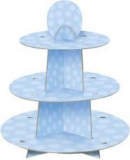presentoir a cupcakes bleu pastel