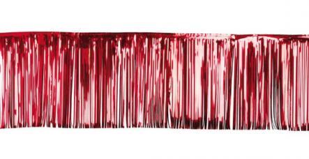 rideau a lamelles verticales rouges