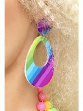 boucles d oreilles multicolores