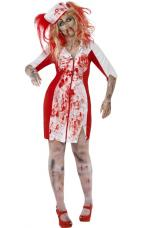 costume infirmiere zombie ensanglantee
