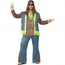 costume hippie bleu homme
