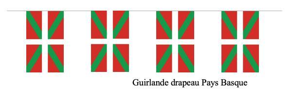 guirlande drapeaux pays basque