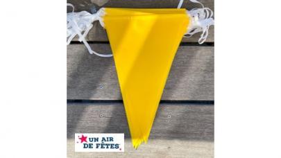 guirlande fanions jaune ultra resistante