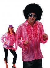 chemise disco rose