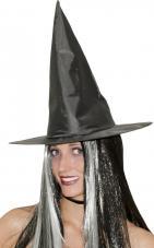 chapeau cheveux noirs et blancs