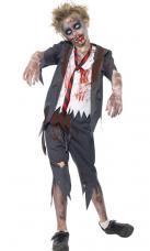 costume enfant zombie ecolier