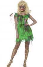 costume de fee zombie vert