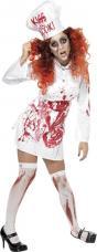 costume halloween femme chef ensanglantée