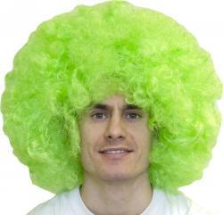 Perruque big afro pour adulte de couleur verte
