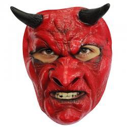 Masque latex diable malveillant halloween pas cher